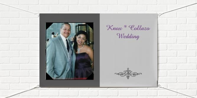 Banner for Front of Venue and Rehearsal Dinner