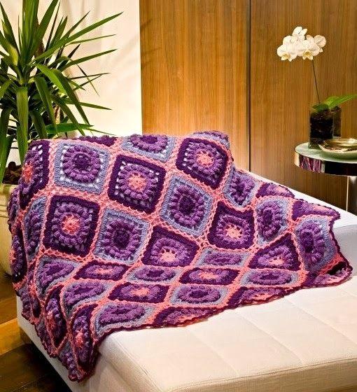 Plaid Au Crochet Modèle Gratuit Crochet Knitting Blankets