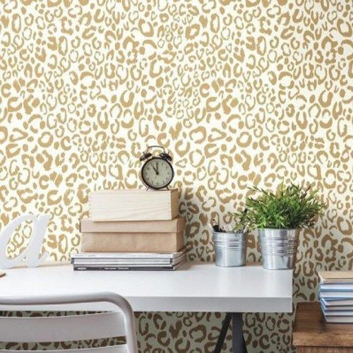 Leopard Peel and Stick Wallpaper Single Roll in 2020