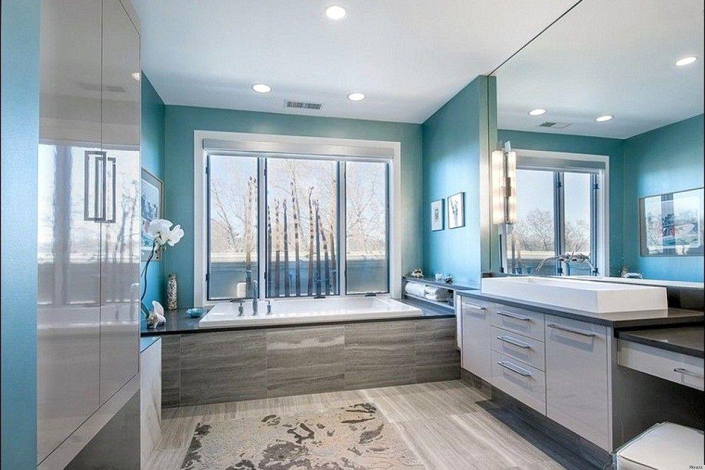 Master Bedroom Bathroom Color Combinations In 2020 Bathroom Design Pretty Bathrooms Colors Blue Bathroom