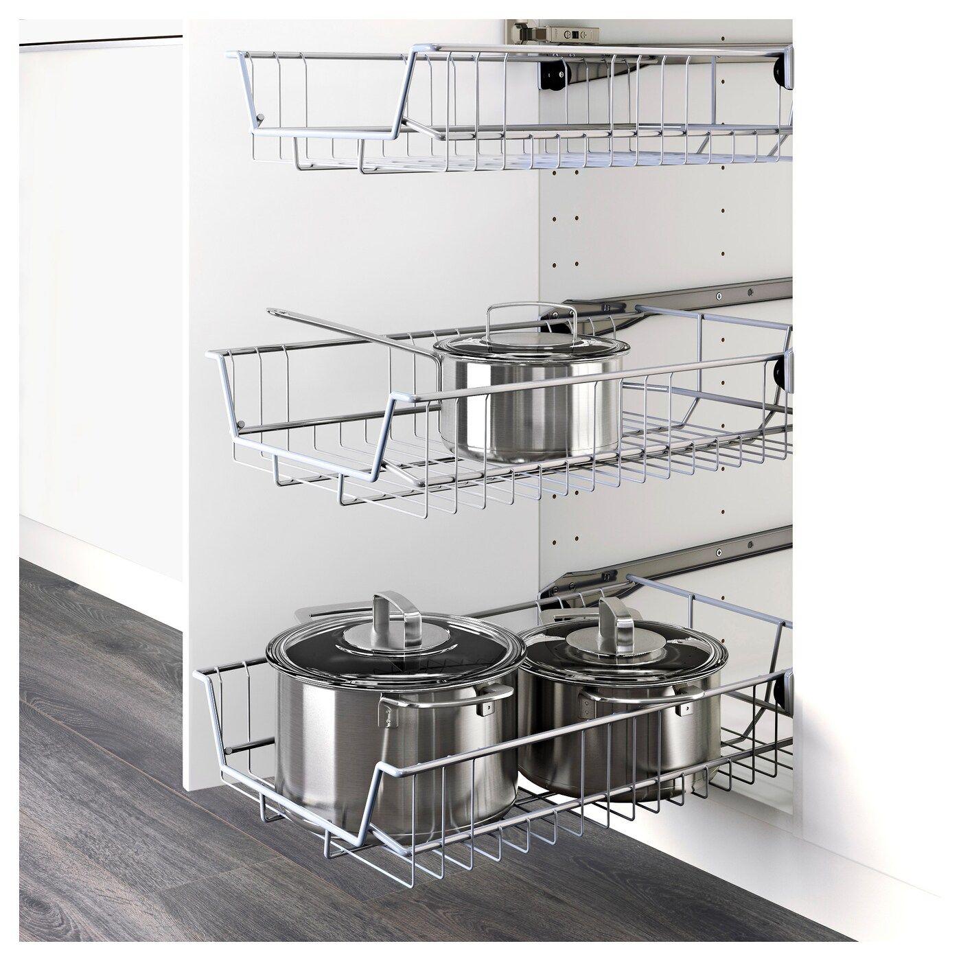 Colonna Dispensa Cucina Ikea utrusta trådback 40 cm | trådkorg, köksrenovering, sommarstugan
