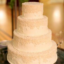 Pearl covered wedding cake