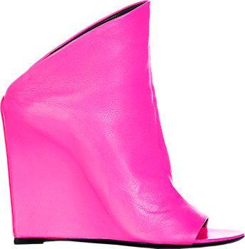 Balenciaga Glove Wedge Mules - Wedges - Barneys.com