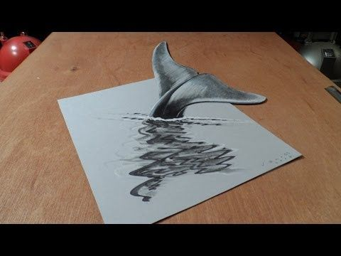 how to draw 3d illusions on paper