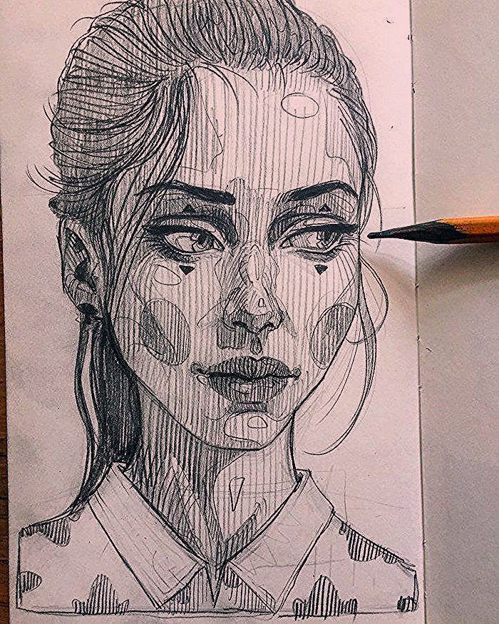 1001 Ideas How To Draw A Girl Tutorials And Pictures Background Draw Girl Ideas Pictures Tutorials Pencil Portrait Drawing Sketch Book Drawings