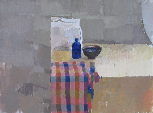 Still Life with Checked Scarf