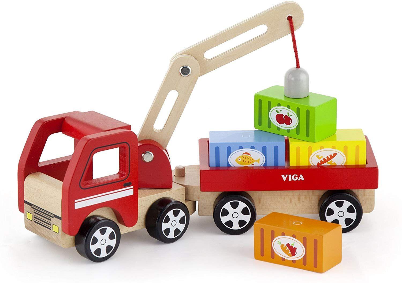 Viga Wooden Crane Truck Amazon Co Uk Toys Games Wooden Toys Toy Crane Wood Toys