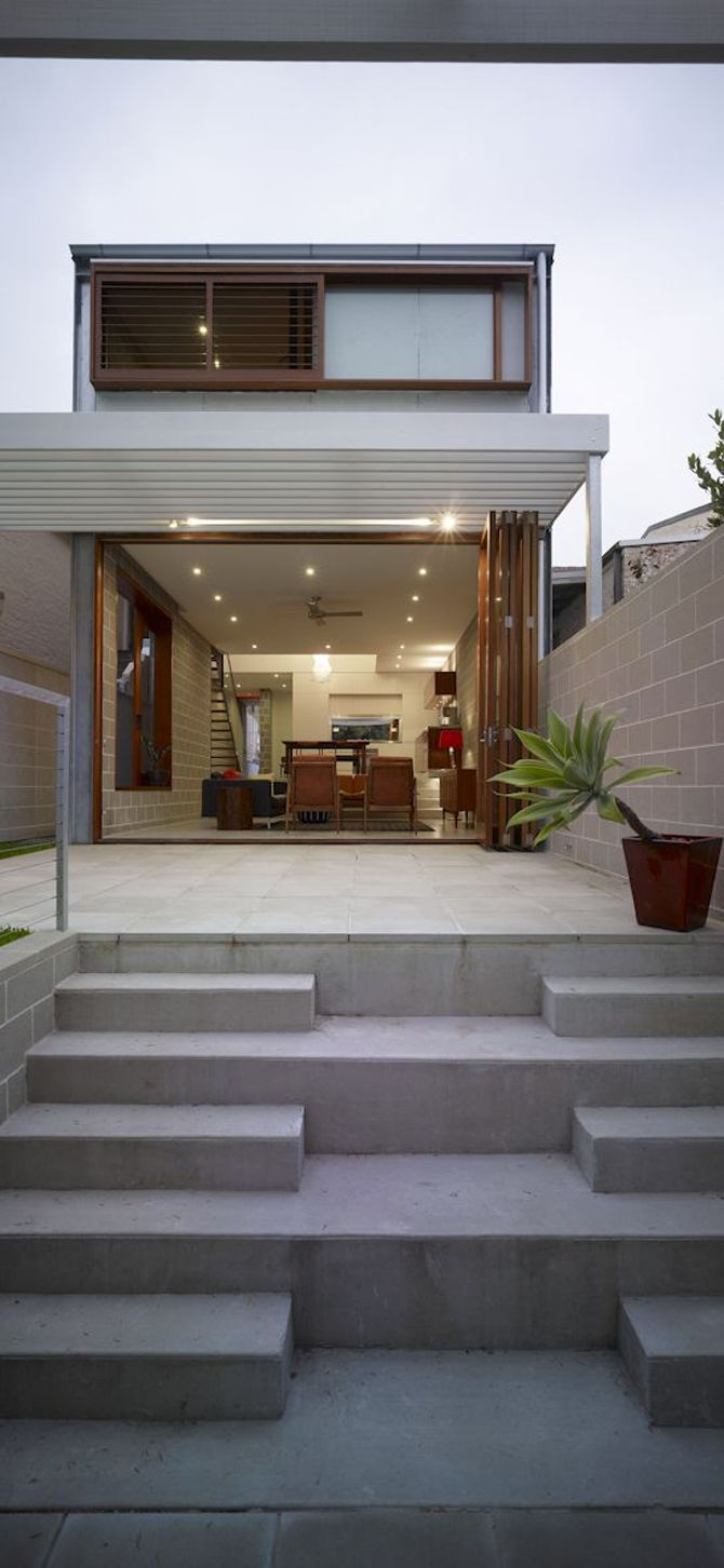 The Camperdown House By Carter Williamson Architects, A Small Modern Living  Space Design.