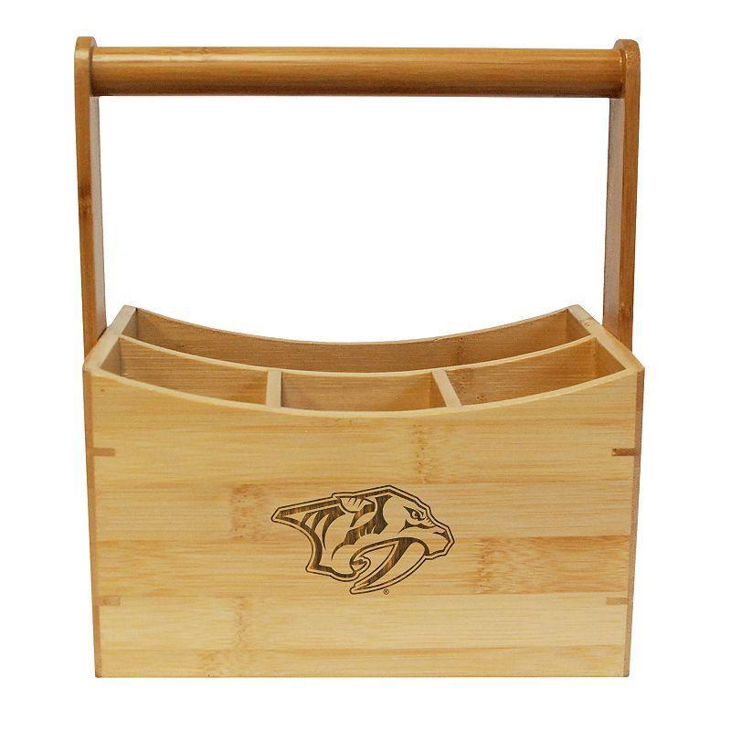 Nashville Predators Bamboo Utensil Caddy, Brown