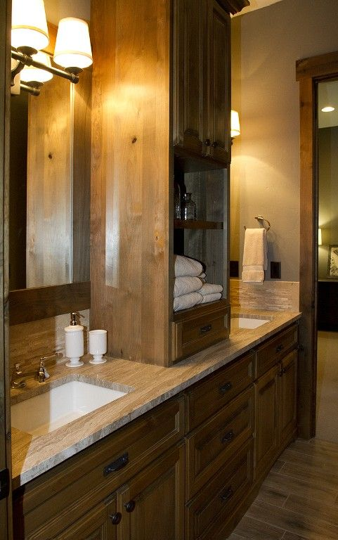 Shared jack and jill bathroom with vanities separate from for Master bathroom jack and jill