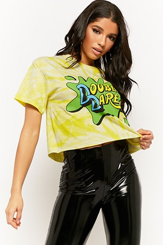 8100f5470e4 Nickelodeon Double Dare Tie-Dye Graphic Tee