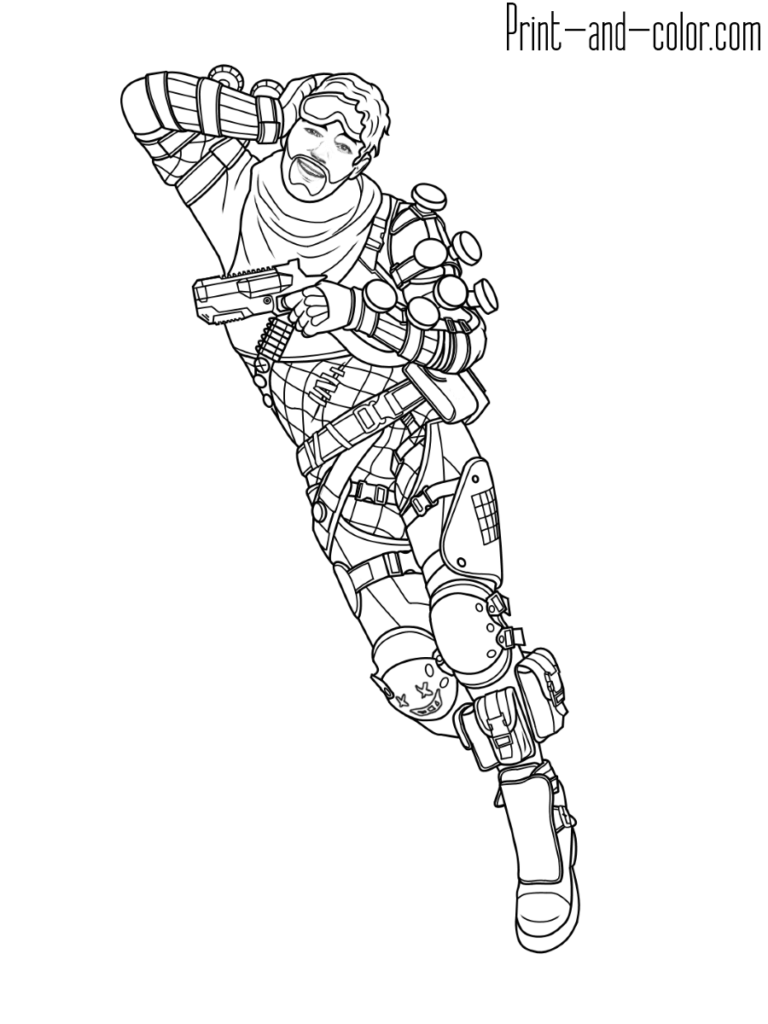 Apex Legends Coloring Page Mirage Coloring Pages Legend Drawing Drawings