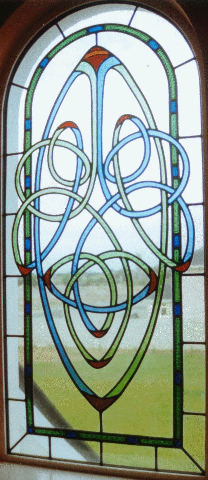 Celtic window by Kevyn Tuohy of Galway Stained Glass