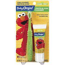 fa08a3fcc795 Orajel Baby Tooth & Gum Cleanser, Sesame Street, Apple Banana, 1 oz ...