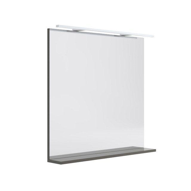 Miroir Lumineux Avec Spot L 80 X H 76 Cm Opale Miroir Lumineux Salle De Bain Design Miroir