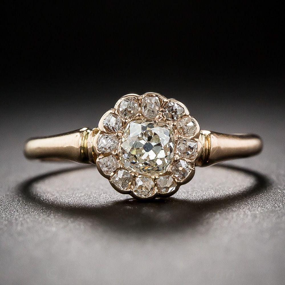 antique rose gold cluster ring | fashion inspiration | pinterest