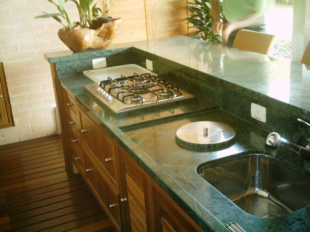 Muito bancada c/lixeira embutida, tomadas e cooktop | Decoração  BI45