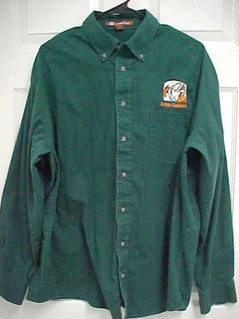 LITTLE CAESARS PIZZA Men Dark Green Sewn Logo Long Sleeve