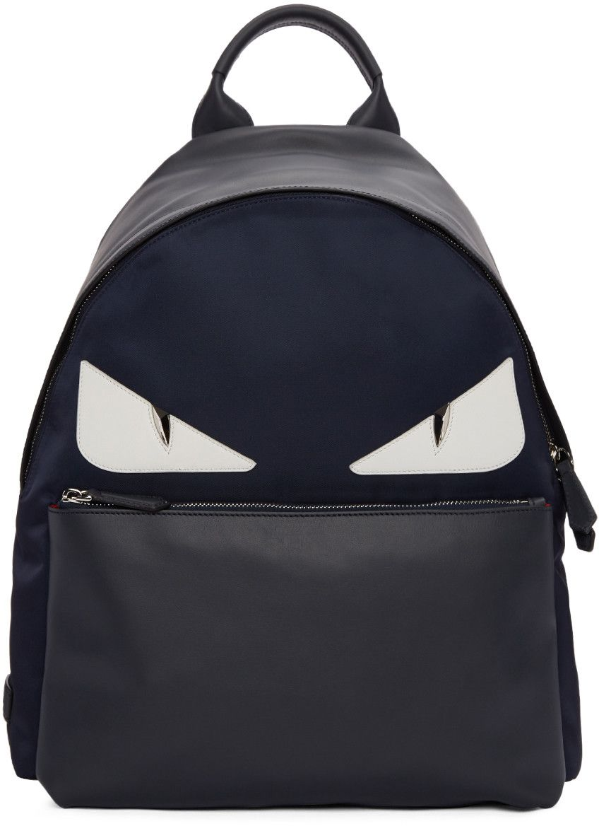 fb775b19d7da FENDI Blue Monster Backpack.  fendi  bags  leather  lining  nylon   backpacks