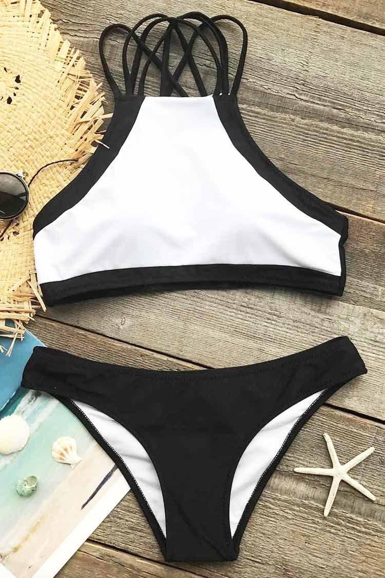 f46f9d9d597 Cupshe Beach Rock Halter Bikini Set | My Style in 2019 | Summer ...