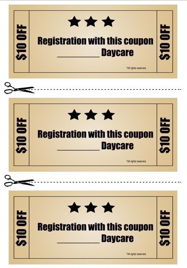 Babysitting Coupon Book Template 17 | Babysitting coupon book ...