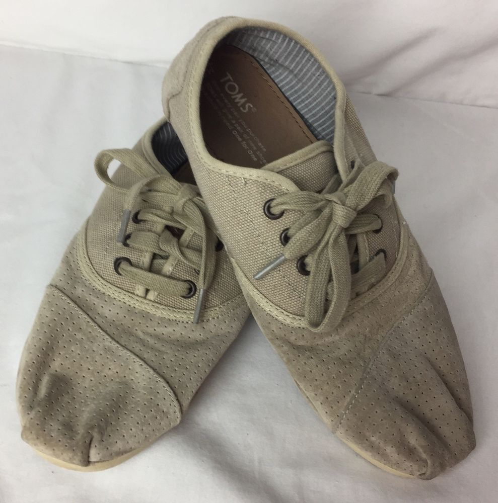 bb4198665fe Toms Mens Sneakers Style 331211 Canvas Suede Lace Up Shoes Tan Mens Size 8M   fashion  clothing  shoes  accessories  mensshoes  casualshoes (ebay link)