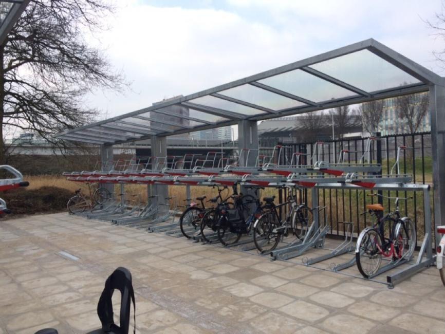 Two Tier Bike Rack And T Hideup Cycle Canopy Bike