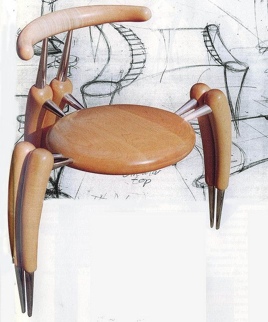 Chair Design Course Party Rentals Near Me Originality Z Chairs 1 Closed Furniture Designed And Made By A Second Year Student On The Legs Back Are Carved Seat Is Turned Aluminium Components