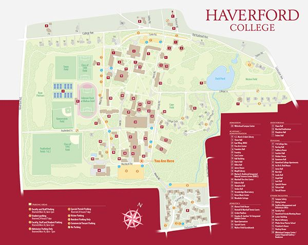 Haverford College Campus Maps On Behance Listrak Creative Campus