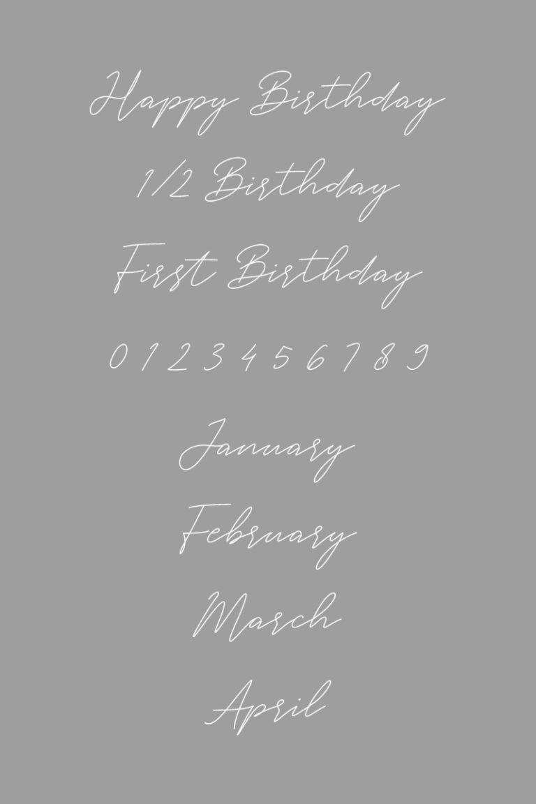 ファーストバースデーに使える 無料dlできるフォント10選 Arch Daysバースデー ハーフバースデー ファーストバースデー 月齢カード Party Arch Days 2020 誕生日 文字 レタリングデザイン バースデーカード 手書き