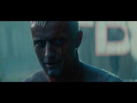 "Blade Runner ""moments will be lost in time... like... tears... in rain"""
