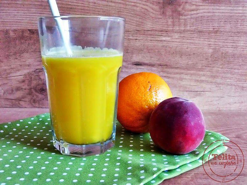 Telita na Cozinha: laranjada com pêssego