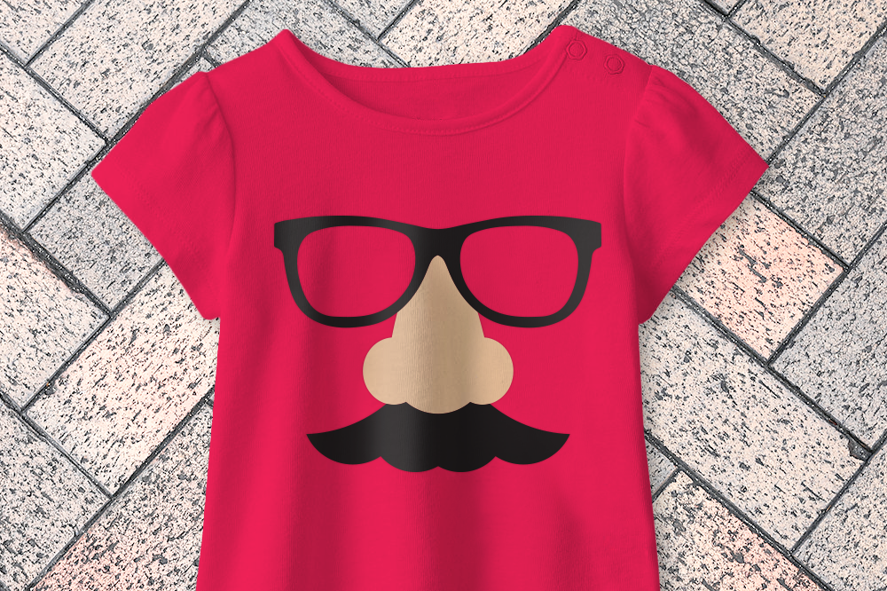 Groucho Nose Mustache Joke Glasses Svg Graphic By Designedbygeeks Creative Fabrica