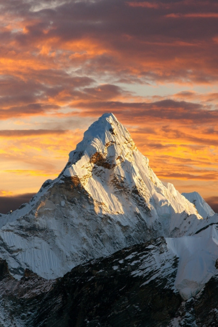 Sagarmatha National Park Landscape Wallpaper Mountain Paintings Mountain Wallpaper