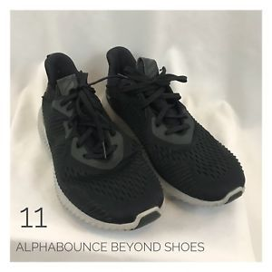 more photos add50 f999f Men s 11 Adidas Alphabounce Beyond Shoes Black White Running Sneakers Worn  Once   eBay