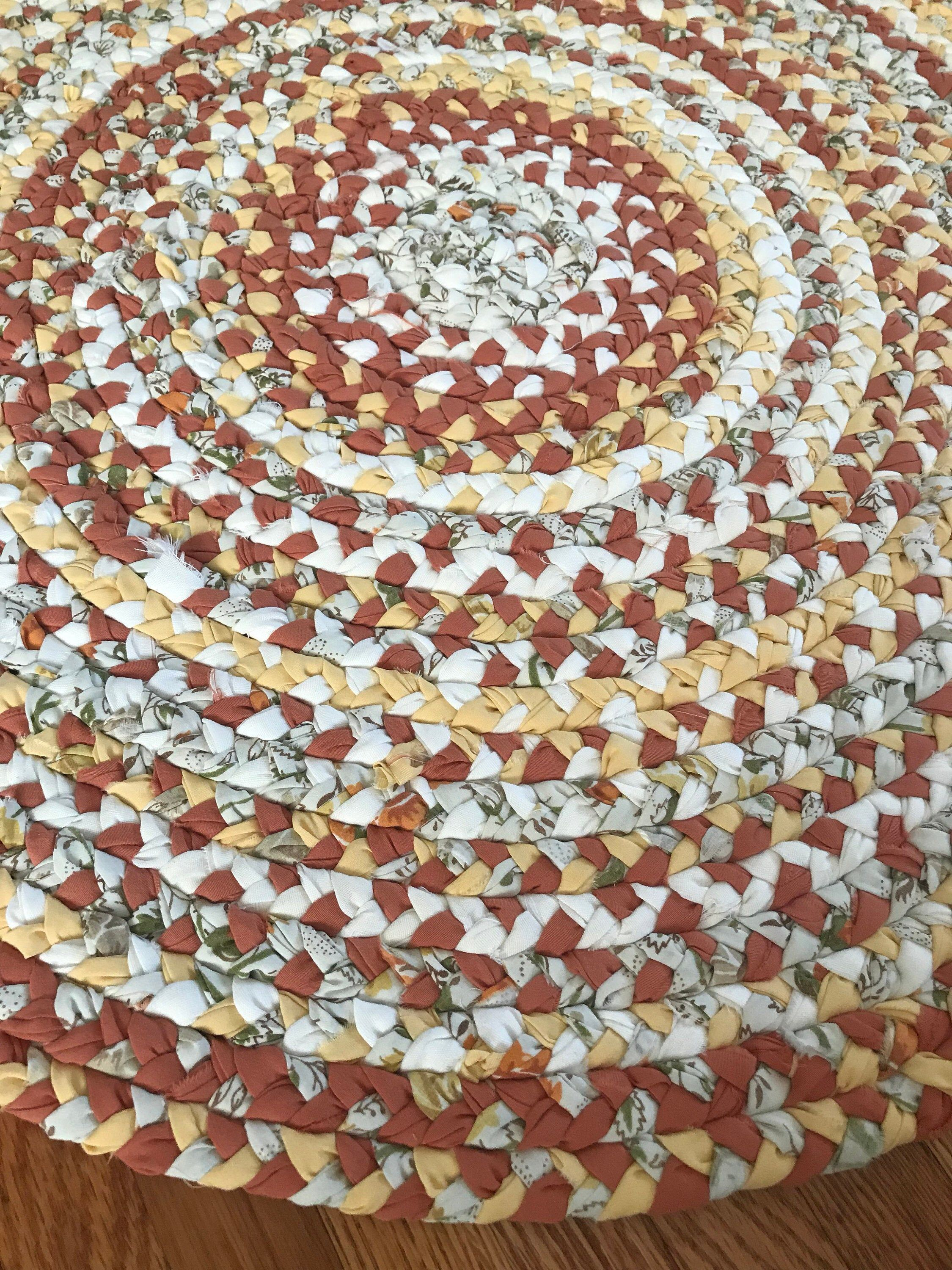 Braided Braided Rugs Diy Fabric Strips Cabin Farmhouse Handmade Rag Rug Throw Upcycled In 2020 Handmade Rag Rug Rag Rug Cabin Rugs