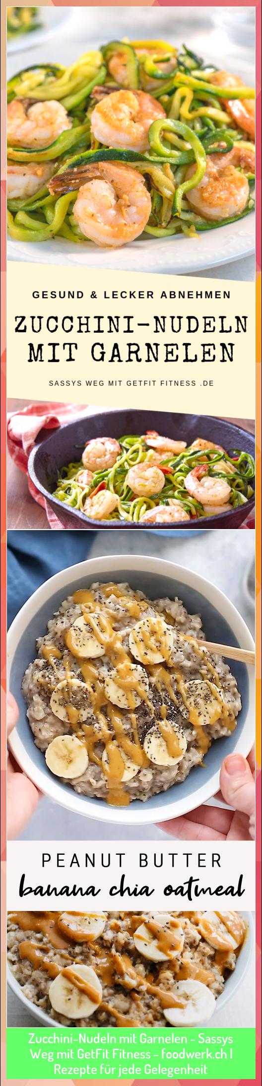 Zucchini-Nudeln mit Garnelen - Sassys Weg mit GetFit Fitness - foodwerk.ch | Rezepte für jede Gelege...