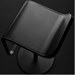 Lapalma Lem Barhocker schwarz lackiert höhenverstellbar 66 - 79cm Laminat Millerighe aluminium gerif