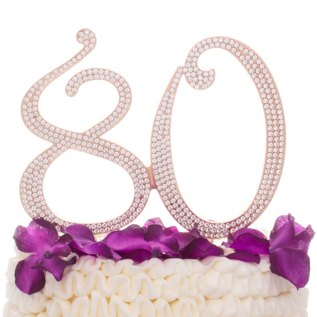 80 cake topper rose gold cake toppers 90th birthday