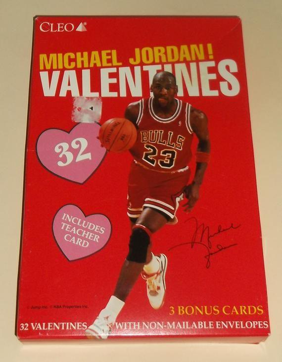 b5b7c23564723b Vintage NOS Michael Jordan Valentines Day Cards by Cleo Sealed ...
