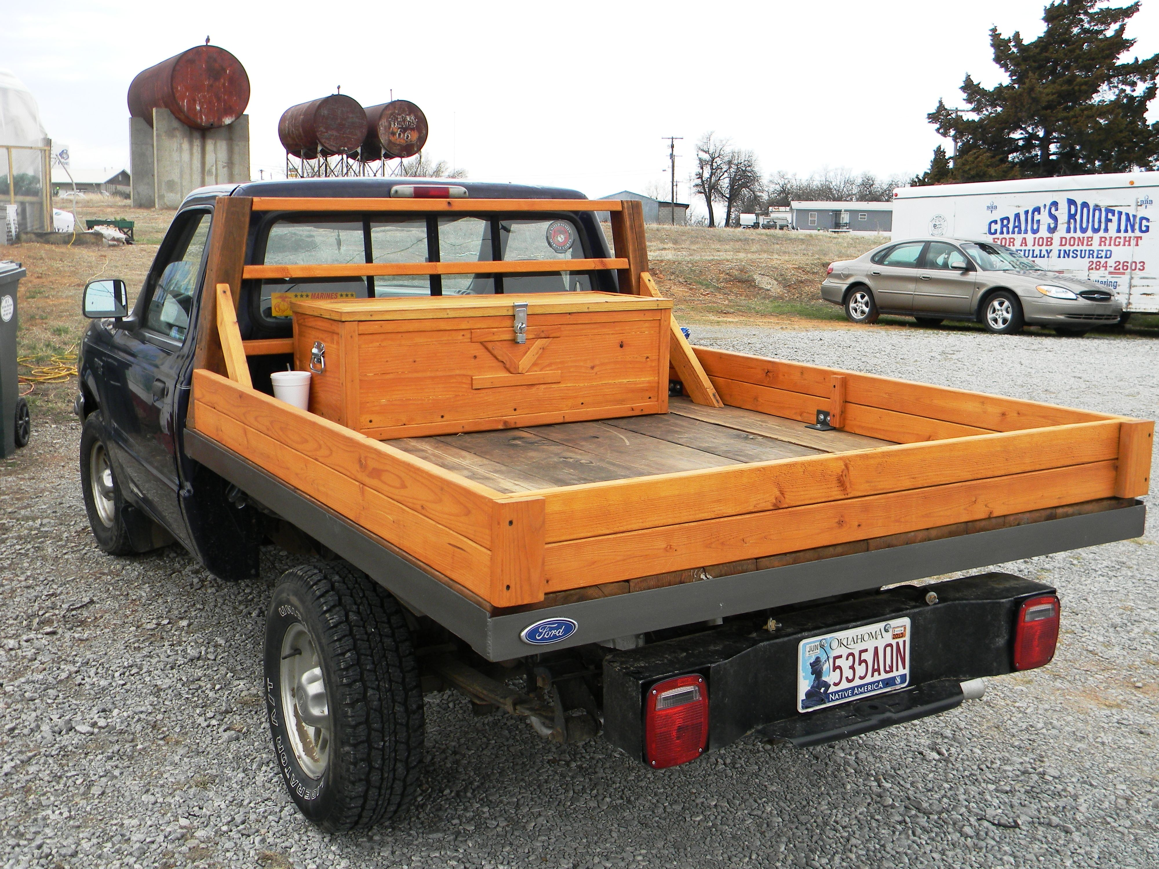 Marvelous photograph of wooden truck bed made from recycled barn lumber one of a kind wooden  with #A95D22 color and 4000x3000 pixels