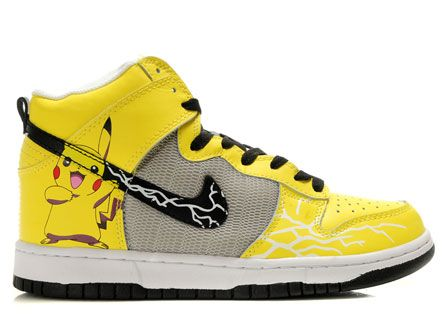 Pikachu Nike Dunks Pokemon High Tops Shoes For Adults : Cool High Tops  Nikes Dunks Adidas