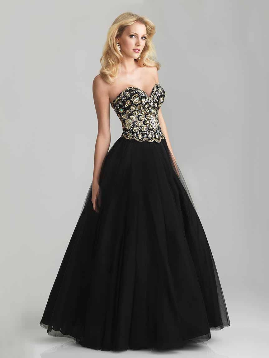 Absolutely incredible black ballgown night moves by allure
