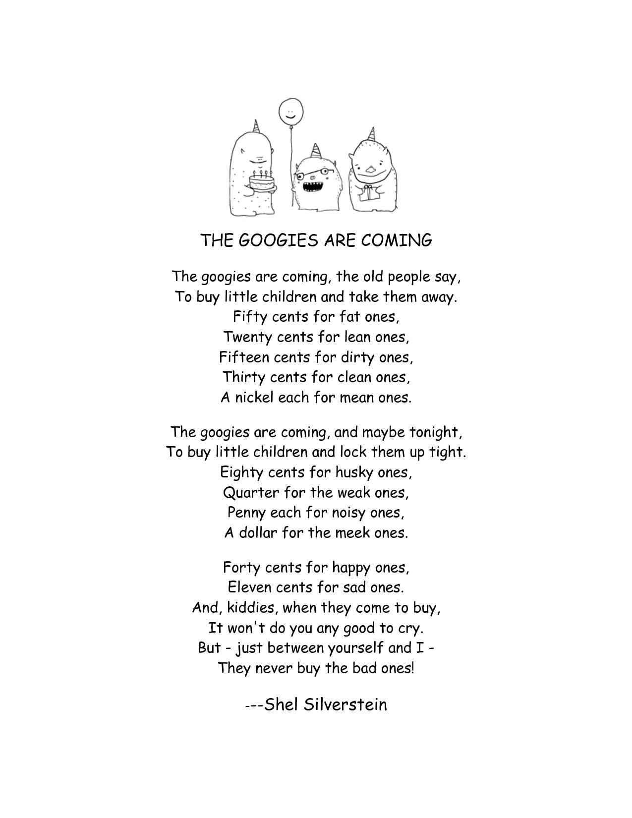 My Favorite Childhood Poem Creeptastic I Know Random Quotes And