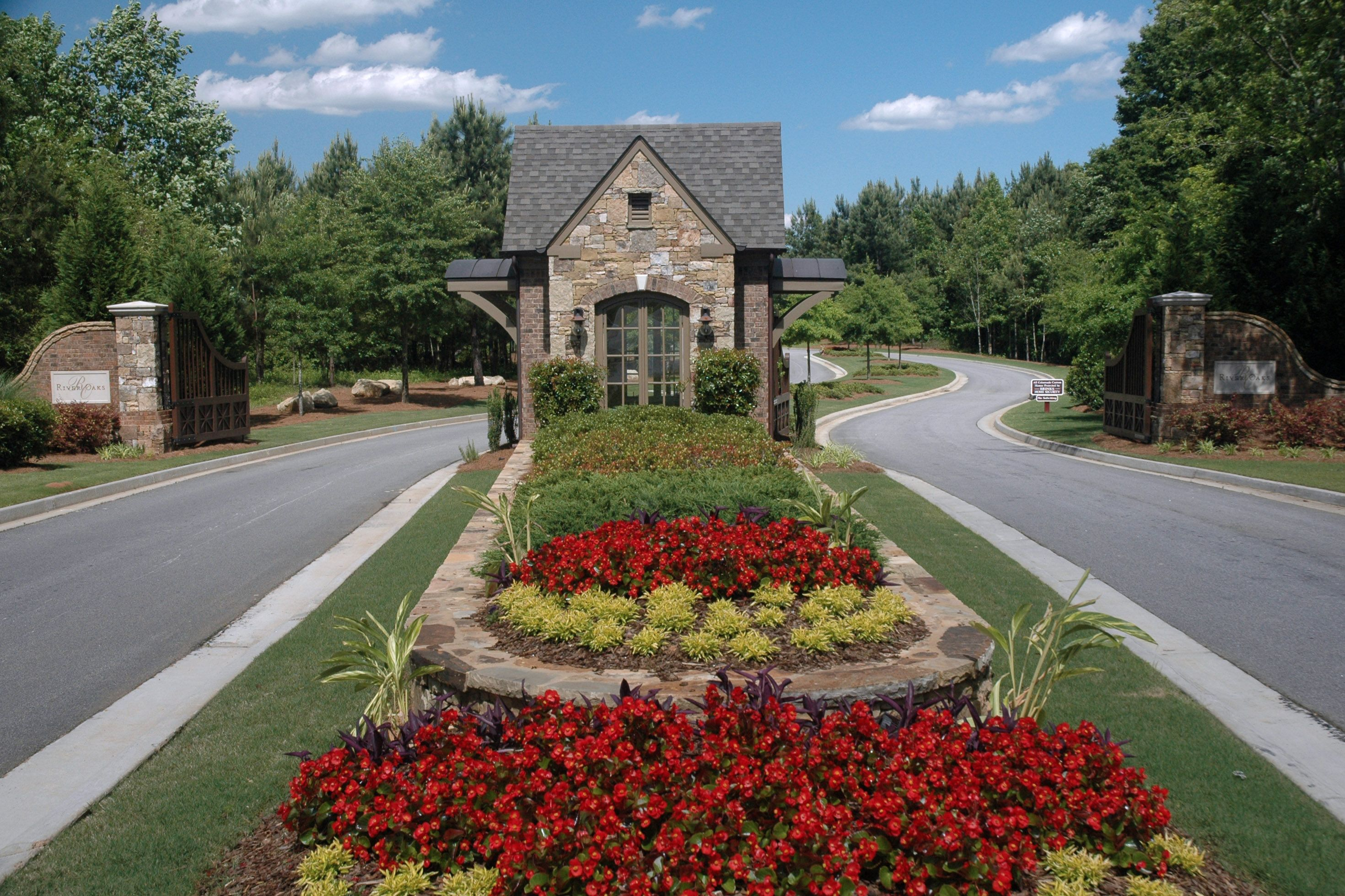 Landscaping is crucial to a grand entrance managed by for Garden entrance ideas