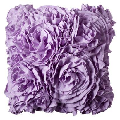 Xhilaration Jersey Ruffle Decorative Pillow From Target - Purple decorative bedroom pillows