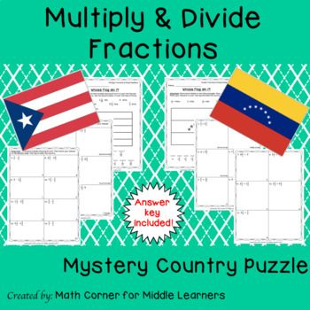 Mystery Country Math Puzzle | 6th grade math | Pinterest | Math ...