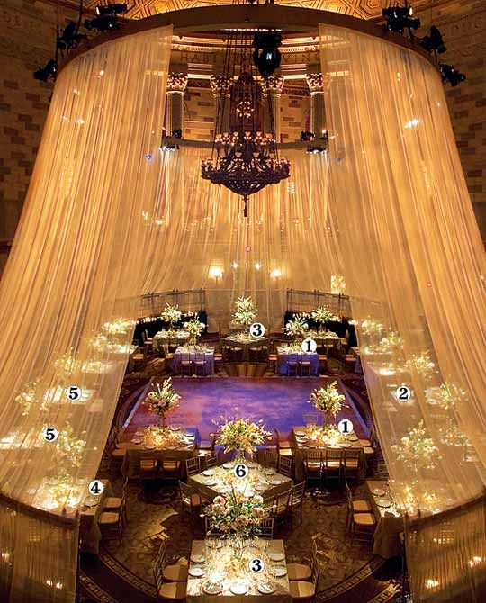 Square Wedding Reception Tables