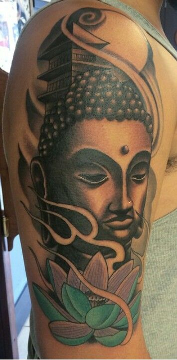 Buddha arm tattoo