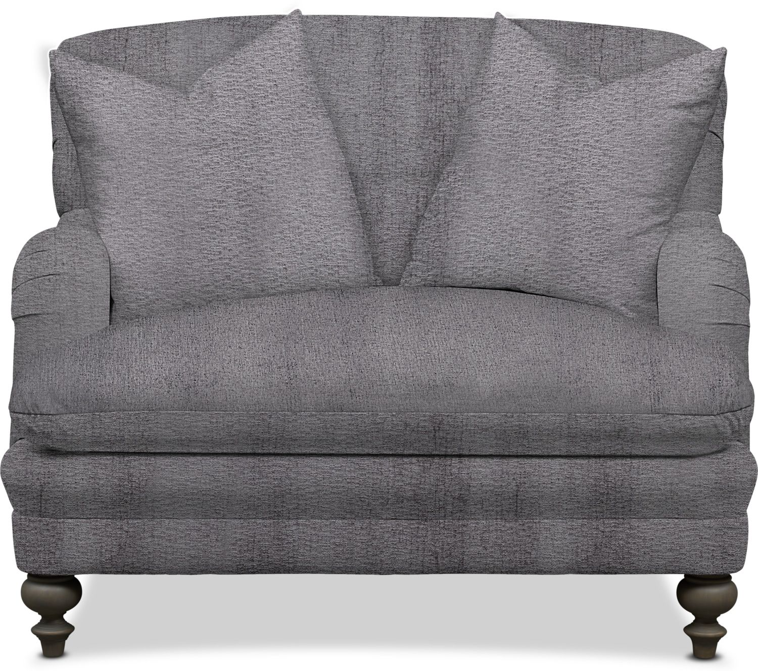 Kroehler Winnie Chair And A Half Living Large Charcoal Gray